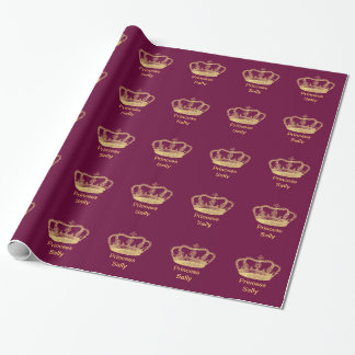 Golden Crown Wrapping Paper