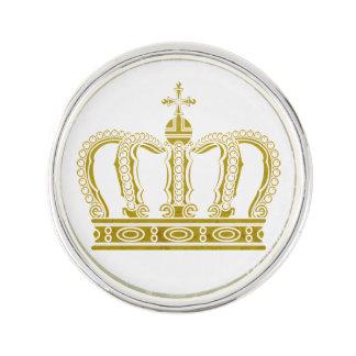 Golden Crown + your ideas Lapel Pin