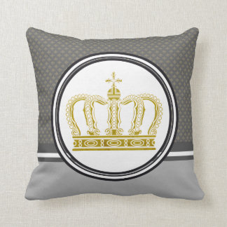Golden Crown + your ideas Throw Pillow
