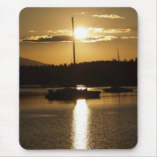 """Golden Cruise"" Sailboat Mousepad"