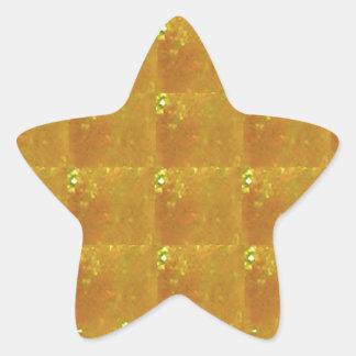 Golden CRYSTAL 2000X Magnification HealingSTONE Star Sticker