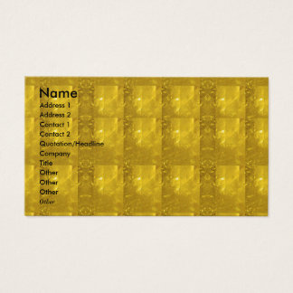 Golden Crystal Stone Look Business Card