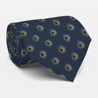Golden Cubes Pattern Tie