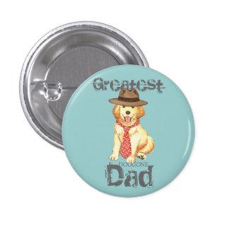 Golden Dad 1 Inch Round Button