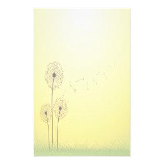 Golden Dandelion Stationery