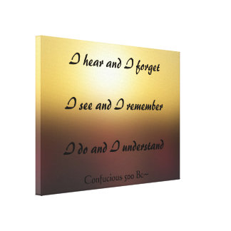 Golden Dawn Confucious Quote Canvas Print