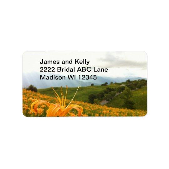 Golden Daylily flower Valley Label