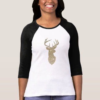 Golden Deer Head T-Shirt