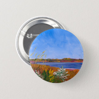 Golden Delaware River 2 Inch Round Button