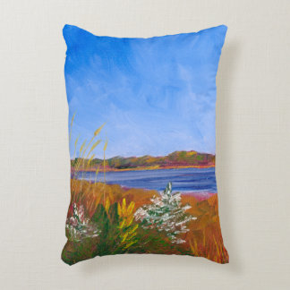 Golden Delaware River Accent Pillow