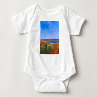Golden Delaware River Baby Bodysuit