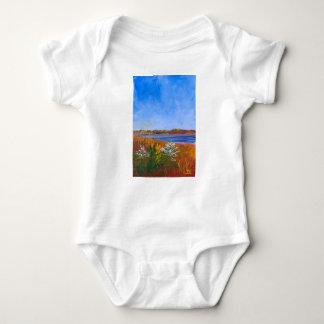 Golden Delaware River Baby Bodysuit