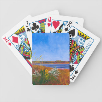 Golden Delaware River Bicycle Playing Cards