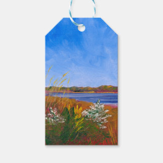 Golden Delaware River Gift Tags