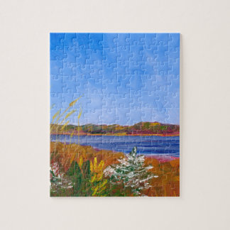 Golden Delaware River Jigsaw Puzzle