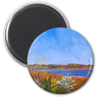 Golden Delaware River Magnet