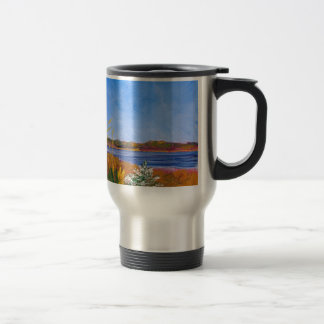 Golden Delaware River Travel Mug