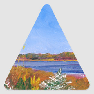 Golden Delaware River Triangle Sticker
