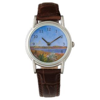 Golden Delaware River Wrist Watch