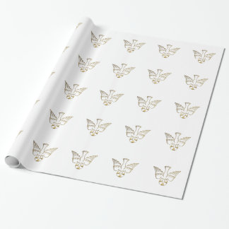 Golden Descent of The Holy Spirit Wrapping Paper