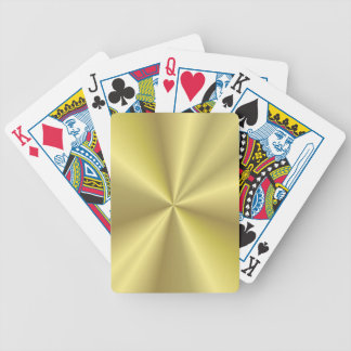Golden design bicycle playing cards