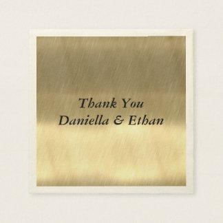 Golden Design Paper Napkins