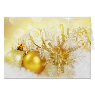 GOLDEN DESIGNER CHRISTMAS THANK YOU NOTES