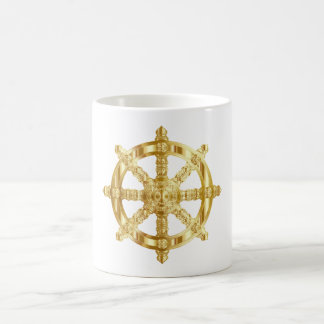 Golden Dharma Wheel Coffee Mug