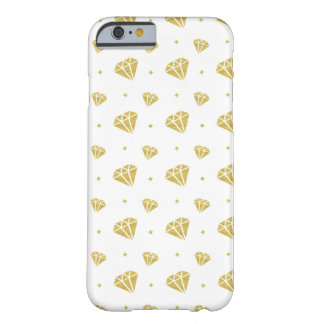 Golden Diamond Pattern Barely There iPhone 6 Case