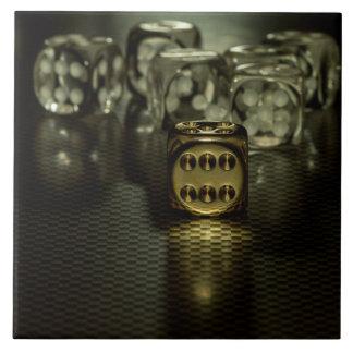 Golden dice tile