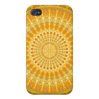 Golden Disc of Secrets Mandala iPhone 4 Covers