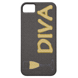 "golden DIVA and champagne ""barely there"" case"