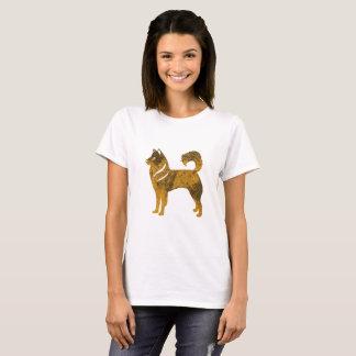 Golden Dog Husky Women's Basic T-Shirt, White T-Shirt
