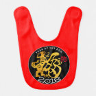 Golden Dog Papercut Chinese New Year 2018 Baby Bib