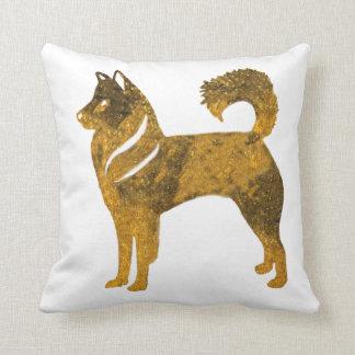 Golden dog Throw Cushion husky