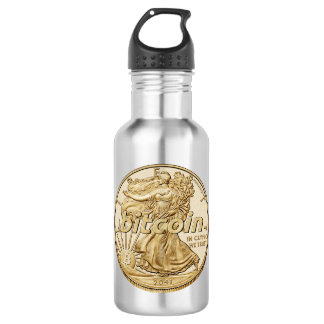 Golden Dollar Bitcoin Cryptocurrency HODL Funny 532 Ml Water Bottle