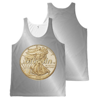 Golden Dollar Bitcoin Cryptocurrency HODL Funny All-Over-Print Tank Top
