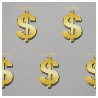 Golden Dollar Sparkling Sign Money Symbol finance Fabric