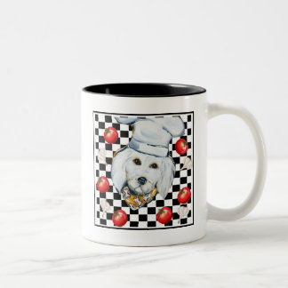 Golden Doodle Chef Two-Tone Coffee Mug