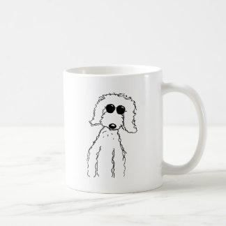 Golden Doodle in Sunglasses Classic White Coffee Mug