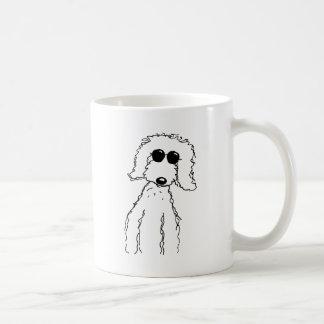 Golden Doodle in Sunglasses Classic White Coffee Mug