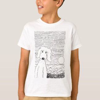 Golden Doodle on the Beach T-shirts
