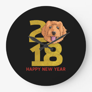 Golden Doodle Year of the Dog 2018 New Year Clock