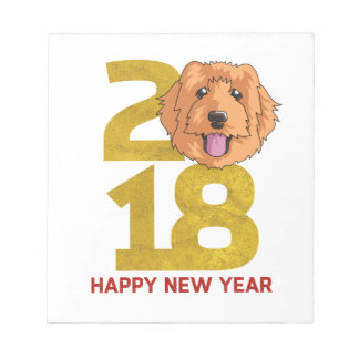 Golden Doodle Year of the Dog 2018 New Year Notepad