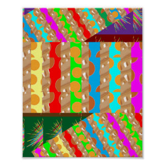 Golden Dot Colorful STRIPES: Energy Vibe ART Poster