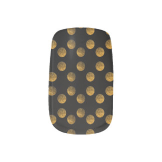 Golden Dots  Nail Art Decals