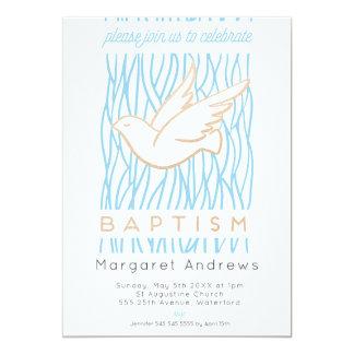 Golden Dove Baptism Religious Invitation