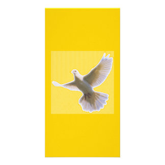 Golden Dove Bookmarker Photo Card Template