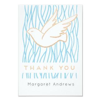 Golden Dove Thank You card