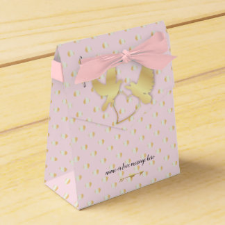 Golden Doves with a Golden Heart, Gentle Love Favor Box